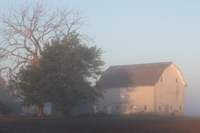 Barn in the Fog II