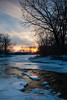 Winter sunst over Prairie Creek. Wilminton, IL<br /> <br /> IL-110121-0050