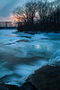 Prairie Creek turns blue as dusk approaches. Wilmington, IL<br /> <br /> IL-110121-0058