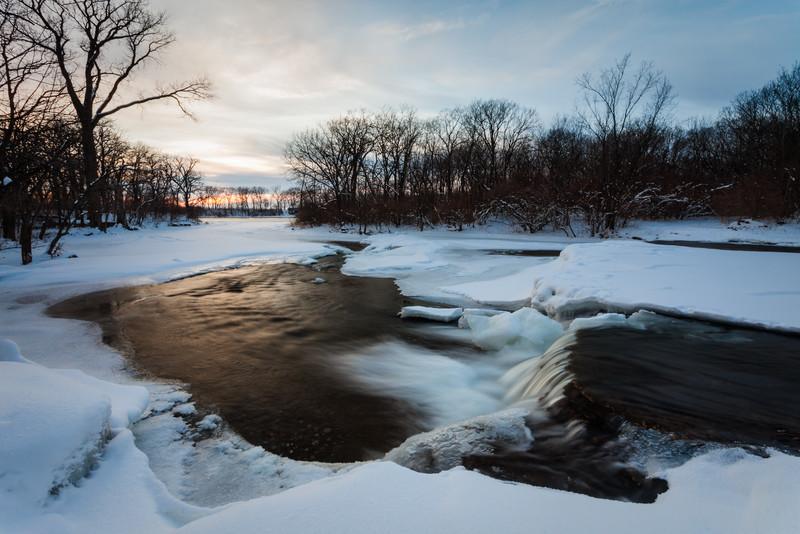 Winter sunset at the Des Plaines Conservation Area. Wilmington, IL<br /> <br /> IL-100110-0029