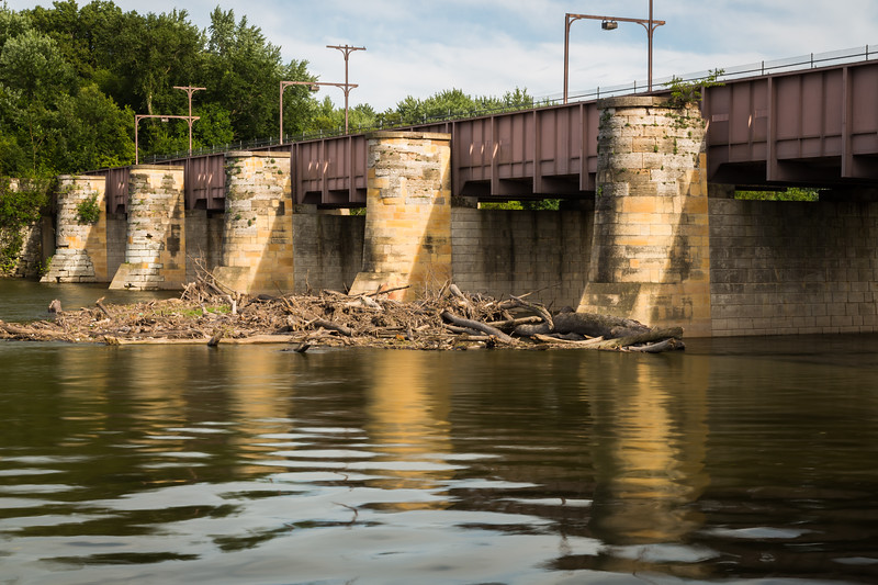 Built in 1840 and spanning 464 feet, the Fox River aqueduct was the largest aqueduct on the I&M Canal. Currently, no water flows over. Ottawa, IL<br /> <br /> IL-150719-0198