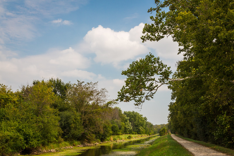 Looking east on the I&M Canal as it enters Channahon, IL<br /> <br /> IL-150907-0044