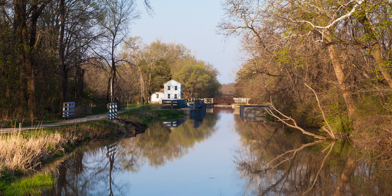 Along the canal