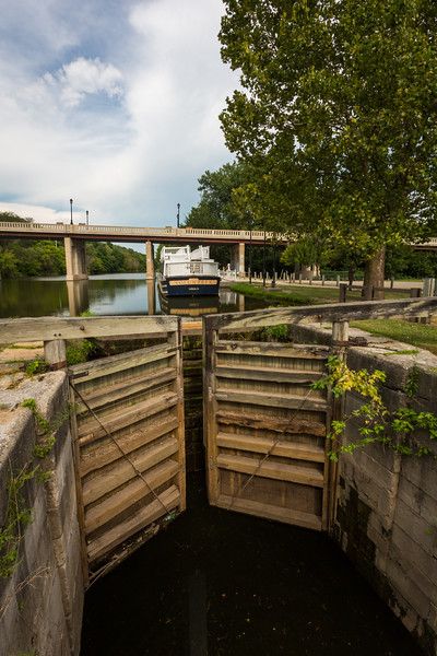 Lock 14 and Canal Boat