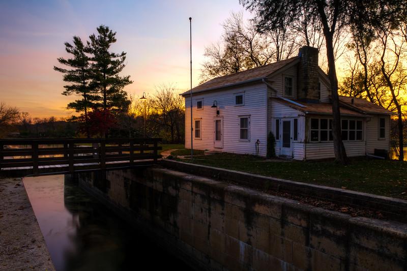 Sunset at Lock 6