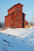 Winter scene of the M. J. Hogan Grain Elevator. Seneca, IL<br /> <br /> IL-110128-0024