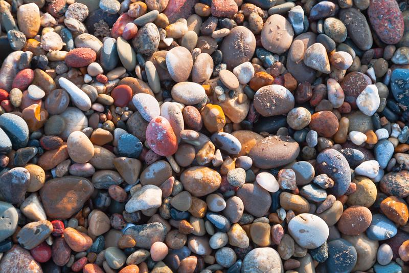 Beach pebbles at Illinois Beach. Zion, IL<br /> <br /> IL-090208-0107