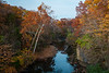 Dusk settles over Rock Creek on a mid-autumn day. Bourbonnais, IL<br /> <br /> IL-141026-0068