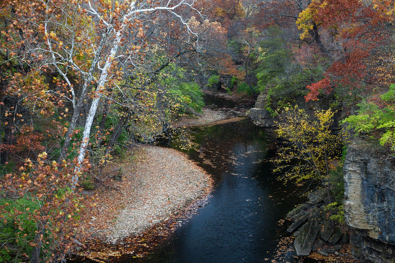 View of Rock Creek in fall splendor near the Kankakee River junction. Bourbonnais, IL<br /> <br /> IL-111030-0117
