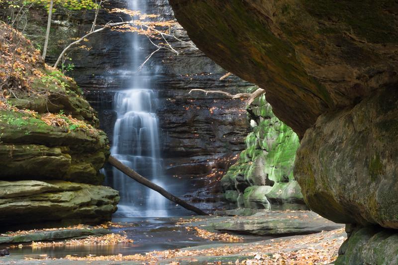 Lake Falls in Autumn. Lasalle County, IL<br /> <br /> IL-081019-0066