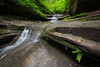 During the spring months, rain feeds the small waterfalls on Matthiessen State Park. Lasalle County, IL<br /> <br /> IL-160604-0046