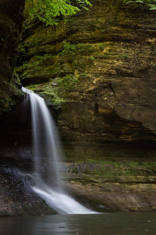 Separating the Upper and Lower Dells, Cascade Falls drops 45 feet. Lasalle County, IL<br /> <br /> IL-160522-0185