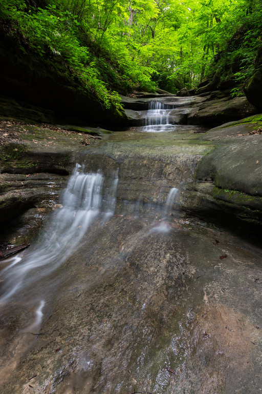 During the spring months, rain feeds the small waterfalls on Matthiessen State Park. Lasalle County, IL<br /> <br /> IL-160604-0037