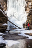 A cold snap converts Lake Falls into an intricate ice sculpture. Lasalle County, IL<br /> <br /> IL-090206-0103