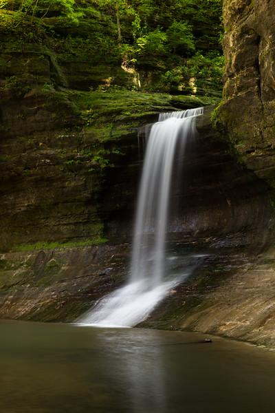 Separating the Upper and Lower Dells, Cascade Falls drops 45 feet. Lasalle County, IL<br /> <br /> IL-160522-0195