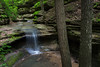 A seasonal flowing waterfall in Matthiessen State Park. Lasalle County, IL<br /> <br /> IL-160604-0074