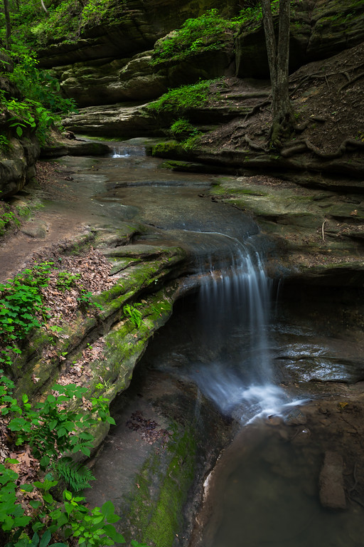 A seasonal flowing waterfall in Matthiessen State Park. Lasalle County, IL<br /> <br /> IL-160604-0069