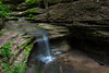 A seasonal flowing waterfall in Matthiessen State Park. Lasalle County, IL<br /> <br /> IL-160604-0061