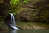Separating the Upper and Lower Dells, Cascade Falls drops 45 feet. Lasalle County, IL<br /> <br /> IL-160522-0163