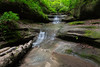 During the spring months, rain feeds the small waterfalls on Matthiessen State Park. Lasalle County, IL<br /> <br /> IL-160604-0031