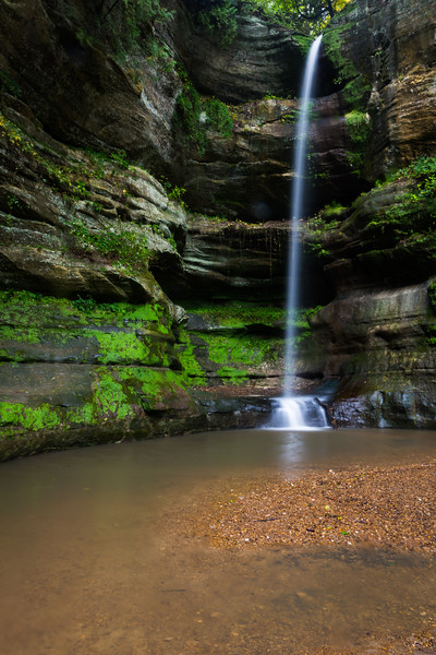 Wildcat waterfall in early autumn. Lasalle County, IL<br /> <br /> IL-190930-0059