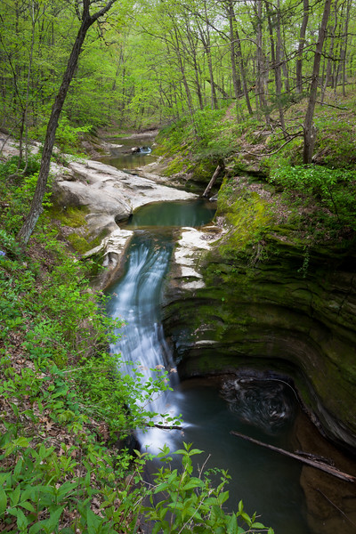 Illinois Canyon waterfall. Lasalle Canyon, IL<br /> <br /> IL-100423-0264