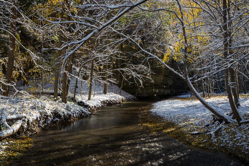 Illinois Canyon Autumn Snow