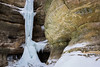 Although it looks frozen solid, the St. Louis ice falls had a good flow of water. The warm winter has made it difficult for these impressive formations to become as large as they once used to. Still, they are quite beautiful. Lasalle County, IL<br /> <br /> IL-130223-0061