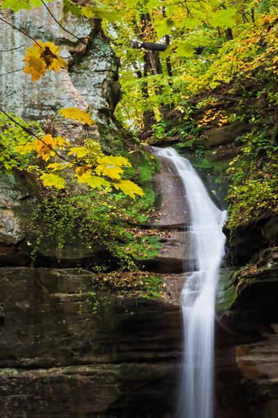 Ottawa waterfall in Autumn. Lasalle County, IL<br /> <br /> IL-061017-0041