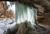 Ice curtain on Lasalle Canyon. Lasalle County, IL<br /> <br /> IL-100212-0035