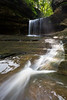 Lasalle Canyon waterfall after a few days of rain. Lasalle County, IL<br /> <br /> IL-190930-0088