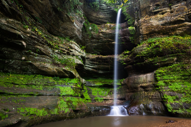 Wildcat waterfall in early autumn. Lasalle County, IL<br /> <br /> IL-190930-0058