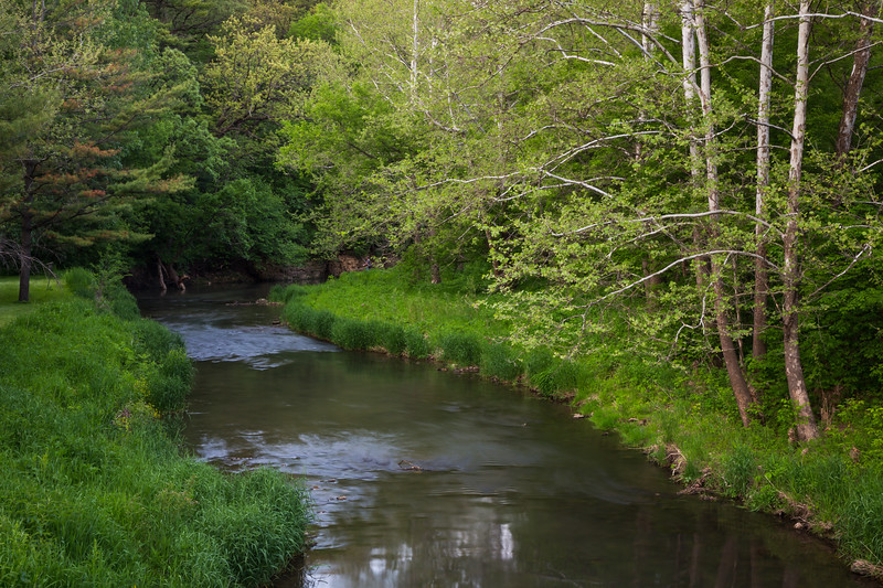 Last bend of Pine Creek before leaving White Pines State Forest. Mt. Morris, IL<br /> <br /> IL-140525-0007