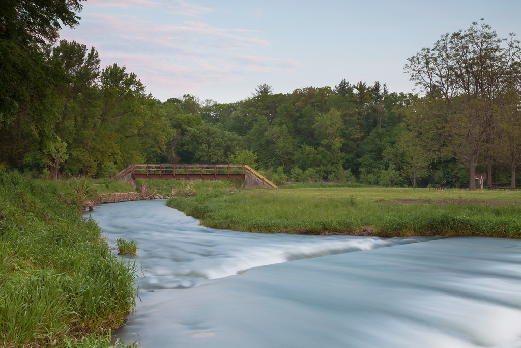 Water rushes through the fjord at White Pines State Park. Mt. Morris, IL<br /> <br /> IL-090523-0071