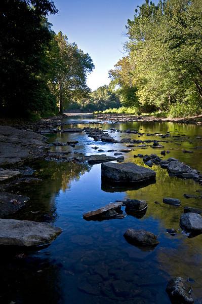 KR 006                     Moring on Rock Creek in Kankakee River State Park, Illinois.