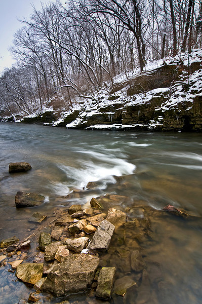 KR 017                      Winter on Rock Creek, Kankakee River State Park, Illinois.