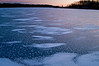MH 002                      A winter sunset on Lake Defiance, Moraine Hills State Park, McHenry, Illinois.