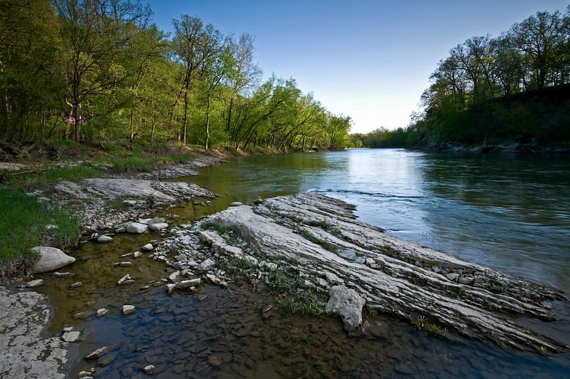 SR 071                        Spring on the Vermillion River, Matthiessen State Park, Utica, Illinois.