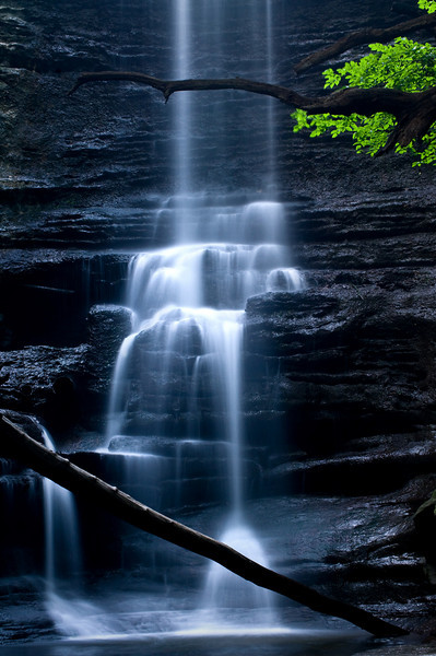 SR 042                      Lake Falls in the Dells Area of Matthiessen State Park, Utica, Illinois.