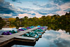 A mirror like Quarry Lake reflects the storm clouds moving through Naperville on a late summer afternoon. Naperville, IL<br /> <br /> IL-110922-0019