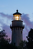 "The Grosse Point Lighthouse, one of 8 ""Poe style lighthouses"" in the Great Lakes, still acts as a night beacon in the Chicago area lakeshore. Evanston, IL  IL-080826-0108"