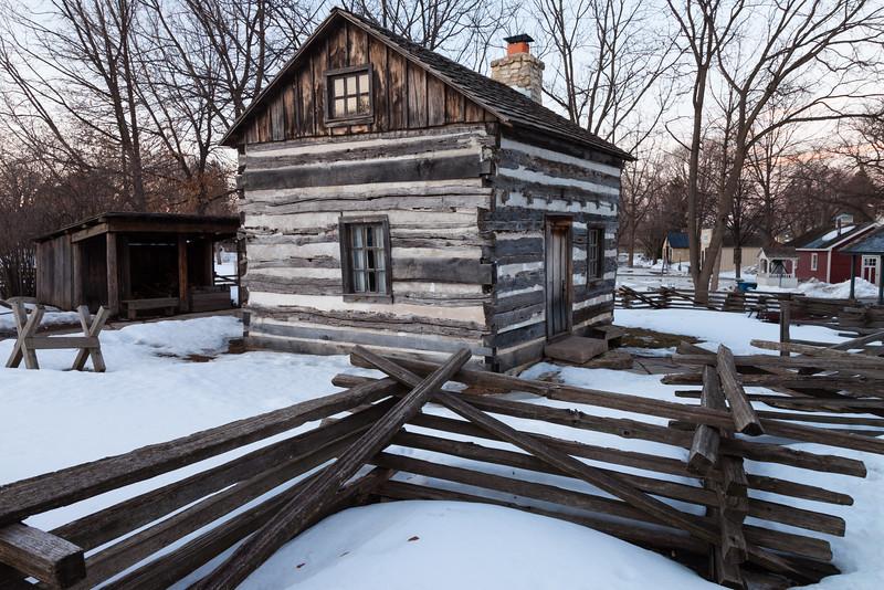 Naper Settlement Log House