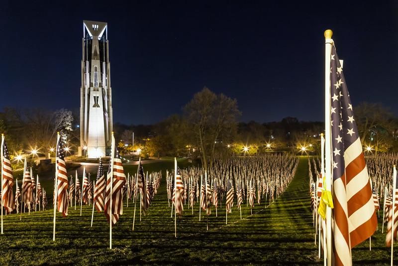 Healing Field of Honor at Night