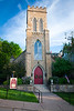 Early morning light shines on Grace Episcopal Church. Galena, IL<br /> <br /> IL-090525-0031