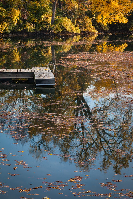 Fall color along the shores of Quarry Lake. Naperville, IL<br /> <br /> IL-111010-0054