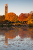 Fall color decorates the shore of Quarry Lake. Naperville, IL<br /> <br /> IL-111009-0017