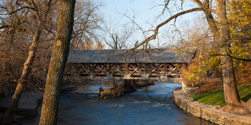Naperville's Autumn Bridge