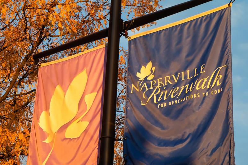 Naperville Riverwalk banner. Naperville, IL<br /> <br /> IL-111010-0013