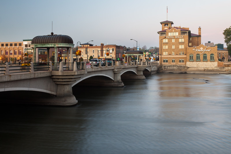 Bridge over the Fox River in downtown St. Charles. St. Charles, IL<br /> <br /> IL-111023-0012