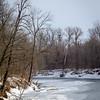 Embarrass River in Illinois in Winter